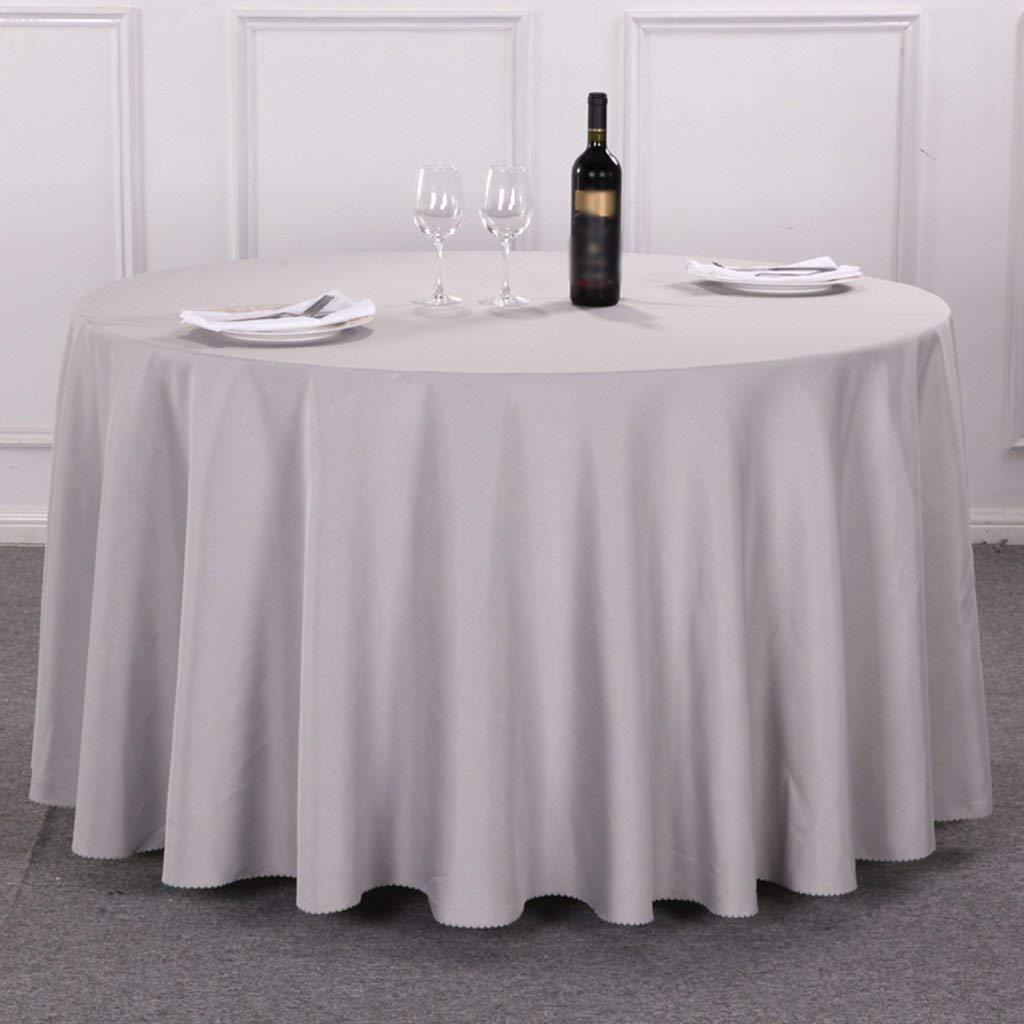 QYM 家庭用テーブルクロス、コーヒーテーブルテーブルクロス、ヨーロッパスタイルホーム会議結婚式ラウンドスクエアテーブルクロスレストランホテルダイニングテーブルクロスサイズオプション、レストランテーブルクロス (Color : Round-300cm, サイズ : #1) #1 Round-300cm B07SPT6Q76