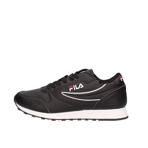 2c08c1c1a51 Fila Womens Orbit Low Trainers in Black  Amazon.co.uk  Shoes   Bags