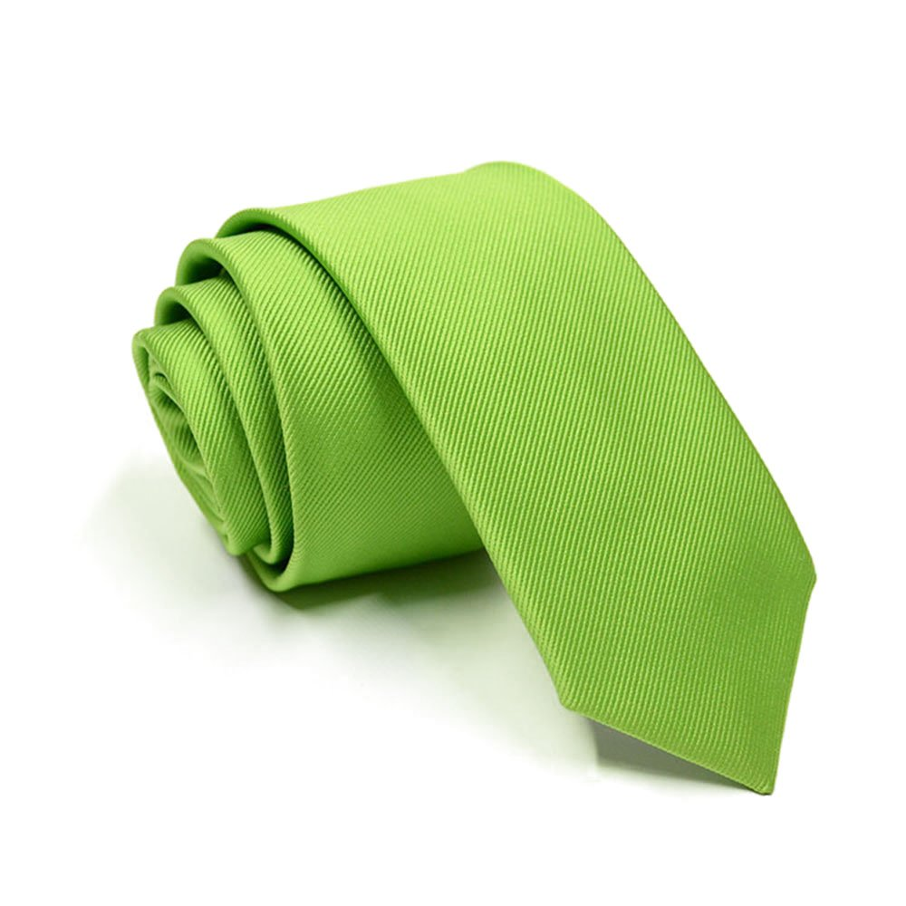 Solid Color Slim Ties Pure Color Necktie Mens Ties 2.4'' (6cm)+ Gift Box