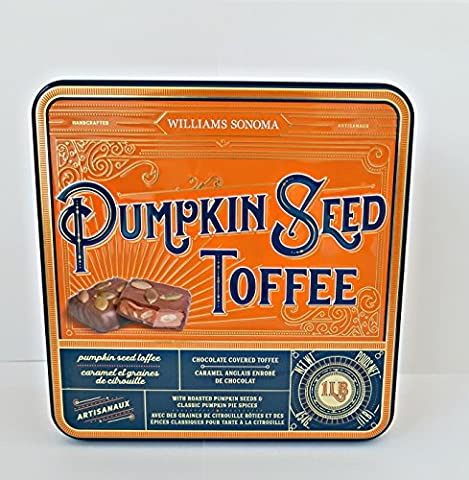 Williams Sonoma Pumpkin Seed Toffee (1 LB) (ONE Count) (Bite Size Baby Ruth)