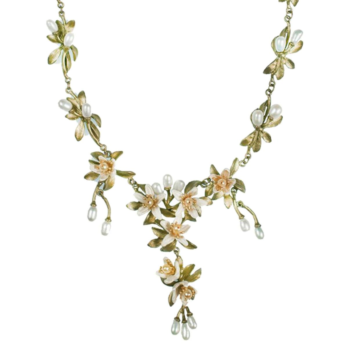 ''Orange Blossom'' Pearl Necklace by Michael Michaud for Silver Seasons