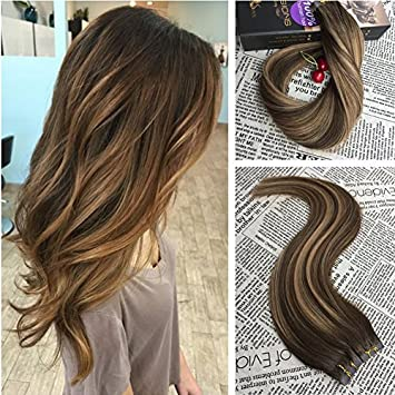 Amazon moresso 16inch tape in hair extensions ombre real moresso 16inch tape in hair extensions ombre real human hair 20pcs 50g skin weft extensions remy pmusecretfo Choice Image