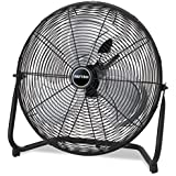 Patton High Velocity Fan Three-Speed Black 8.58-inch wide x 22.83-inch high