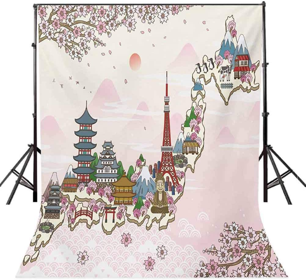 Wanderlust 8x10 FT Backdrop Photographers,North South America World Map Silhouette with Butterfly Illustration Background for Photography Kids Adult Photo Booth Video Shoot Vinyl Studio Props
