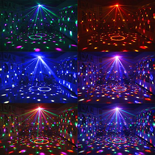 Dj Disco Ball Party Lights Bluetooth Speaker TONGK LED Magic Ball Colorful Mirror Ball Disco Lights Sound Activated Strobe Light for Home Party Gift Birthday halloween Dance Bar Xmas Wedding Show Club by TONGK (Image #1)