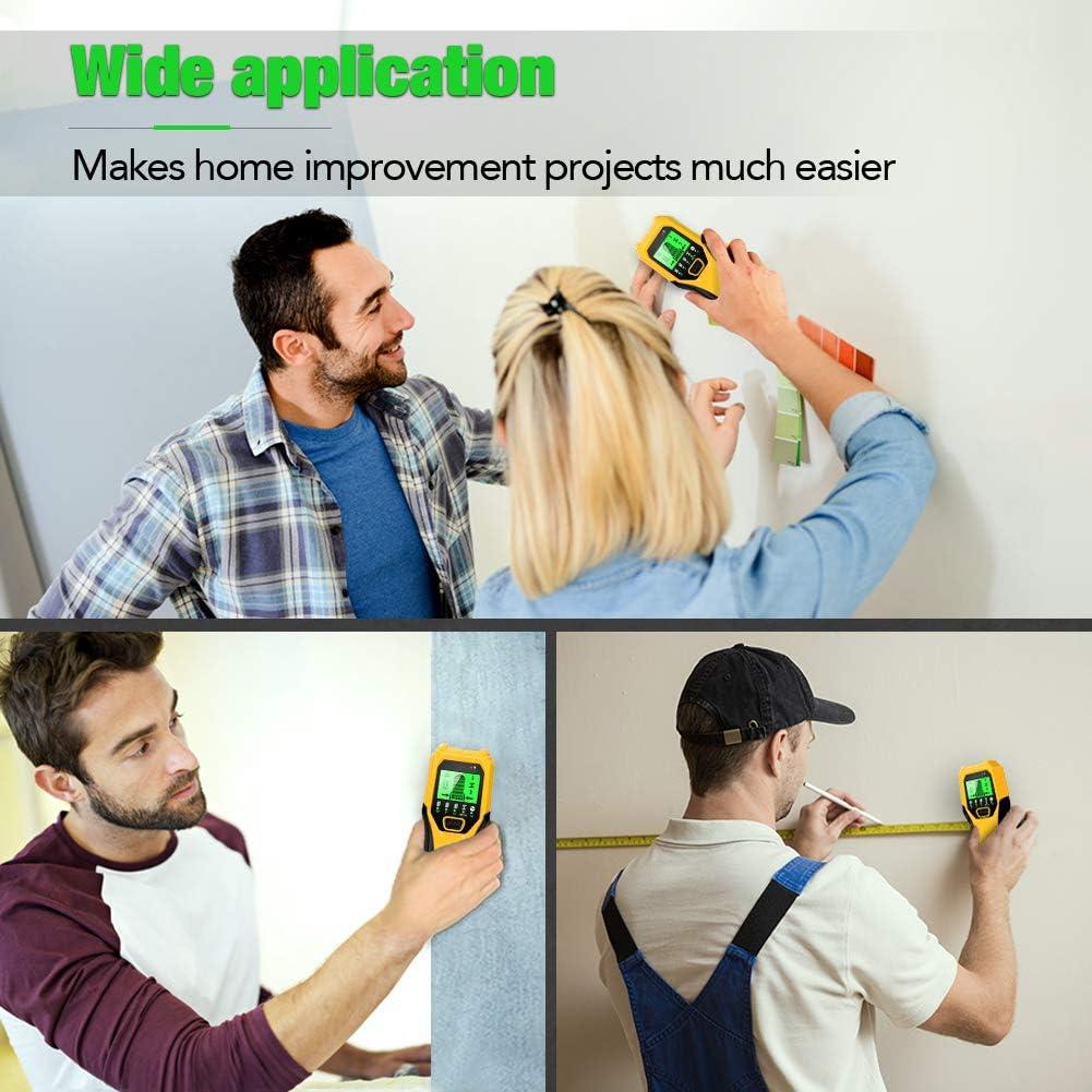 /Écran LCD D/étecteur de mur Capteur /électronique de montants Pour d/étection de bois et de m/étaux D/étecteur de mur de solives Avec batterie 5 en 1 D/étecteur de m/étaux et de bois
