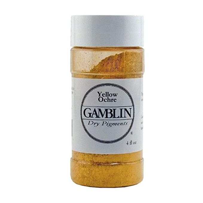 Dry Pigment Color: Yellow Ochre, Size: 1.69 oz