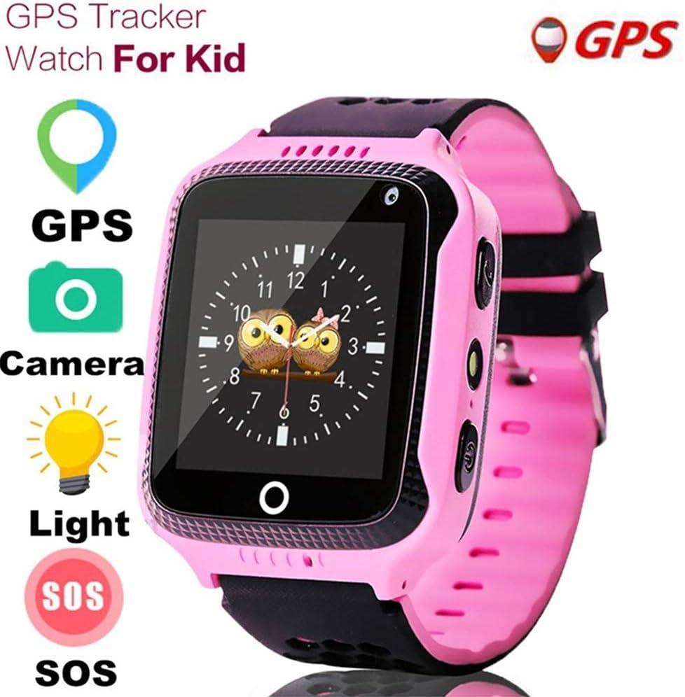 JZWDMD Smartwatch para niños con GPS rastreadores Relojes InteligentesTeléfono con GPS/LBS SOS Pantalla Táctil de Chat de Voz para niños niñas Mejor Regalo para niños