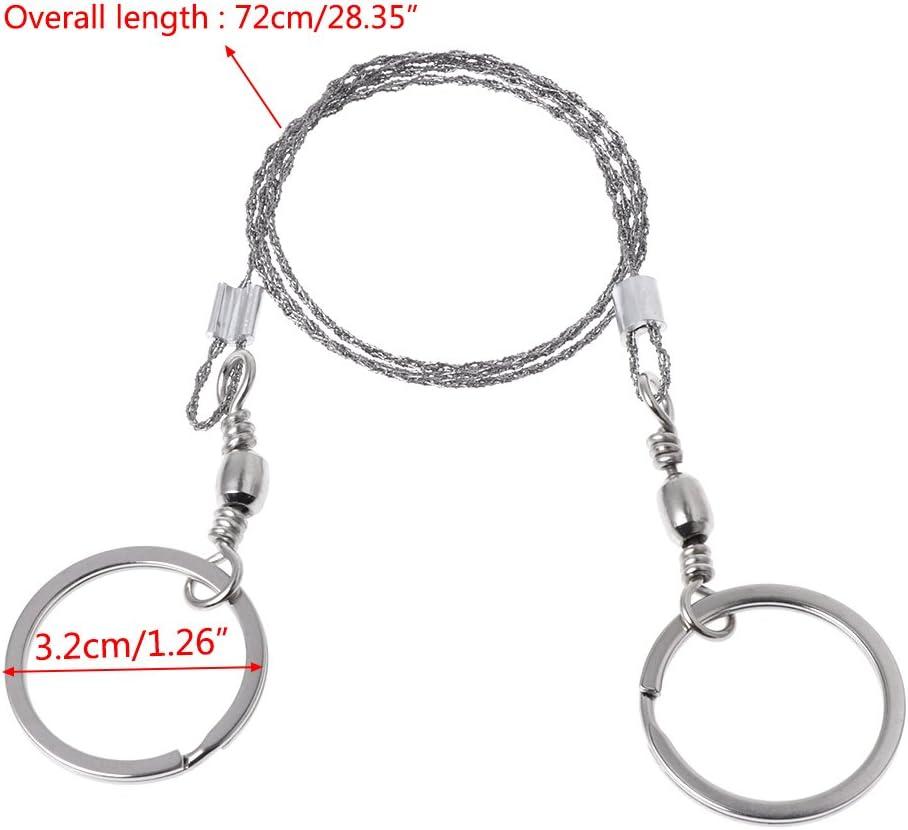Silber JOYKK 1 St/ück elastische Laubs/äge Hand geschnittene S/äge Stahldraht Campingausr/üstung