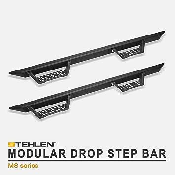 For 2007-2014 Toyota FJ Cruiser SUV Matte Black Modular Drop Step Side Nerf Bars