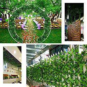 Echodo 82 Ft Artificial Ivy Leaf Garland Fake Hanging Plants Grape Silk Ivy Vine Garlands Wall Crafts Christmas Party Decoration 5