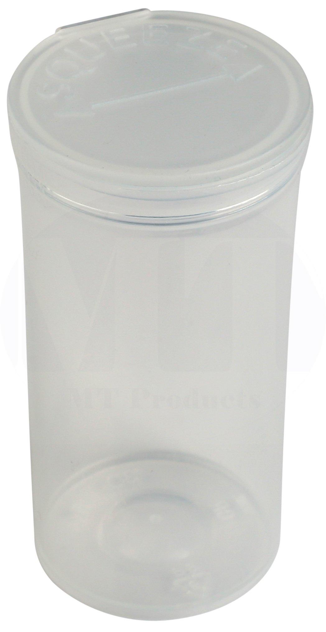 MT Products 19 Dram Pop Top Prescription Bottle (15 Pieces) (Clear)