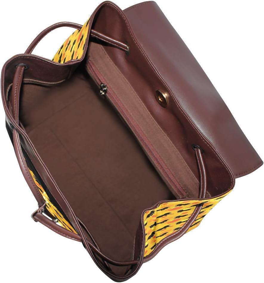 Unisex PU Leather Backpack Dachshund Gifts for Women Orange Print Womens Casual Daypack Mens Travel Sports Bag Boys College Bookbag