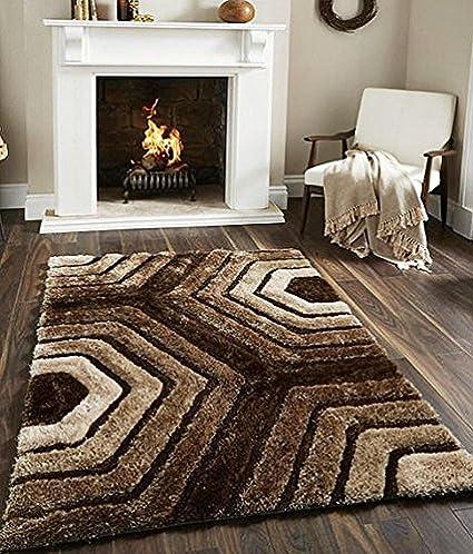Fresh from Loom Designer 3D Shaggy Fur Carpet - 5 x 7 Feet