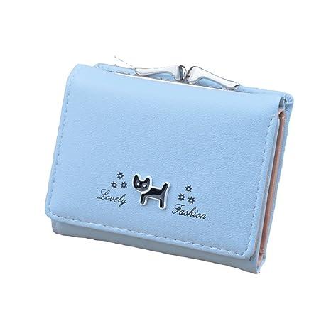 c5e908c7fd Oudan Portafoglio in pelle femminile piccolo portafoglio PU ragazza  adolescente Porta carta di credito Bank Animal