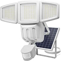 Solar Lights Outdoor, Costech Super Bright 182 LED Motion Sensor Solar Lights with Wide Lighting Area; Adjustable Triple Dual Head, Waterproof Solar Wall Lights for Patio, Deck, Yard, Garden, Driveway