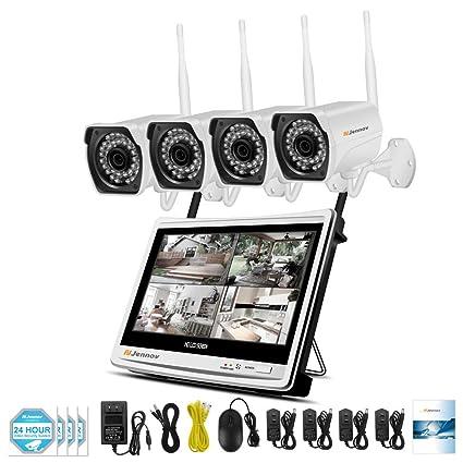 SHENG Cámara de Seguridad, 1080p HD inalámbrico de vigilancia Conjunto de teléfono móvil de visualización