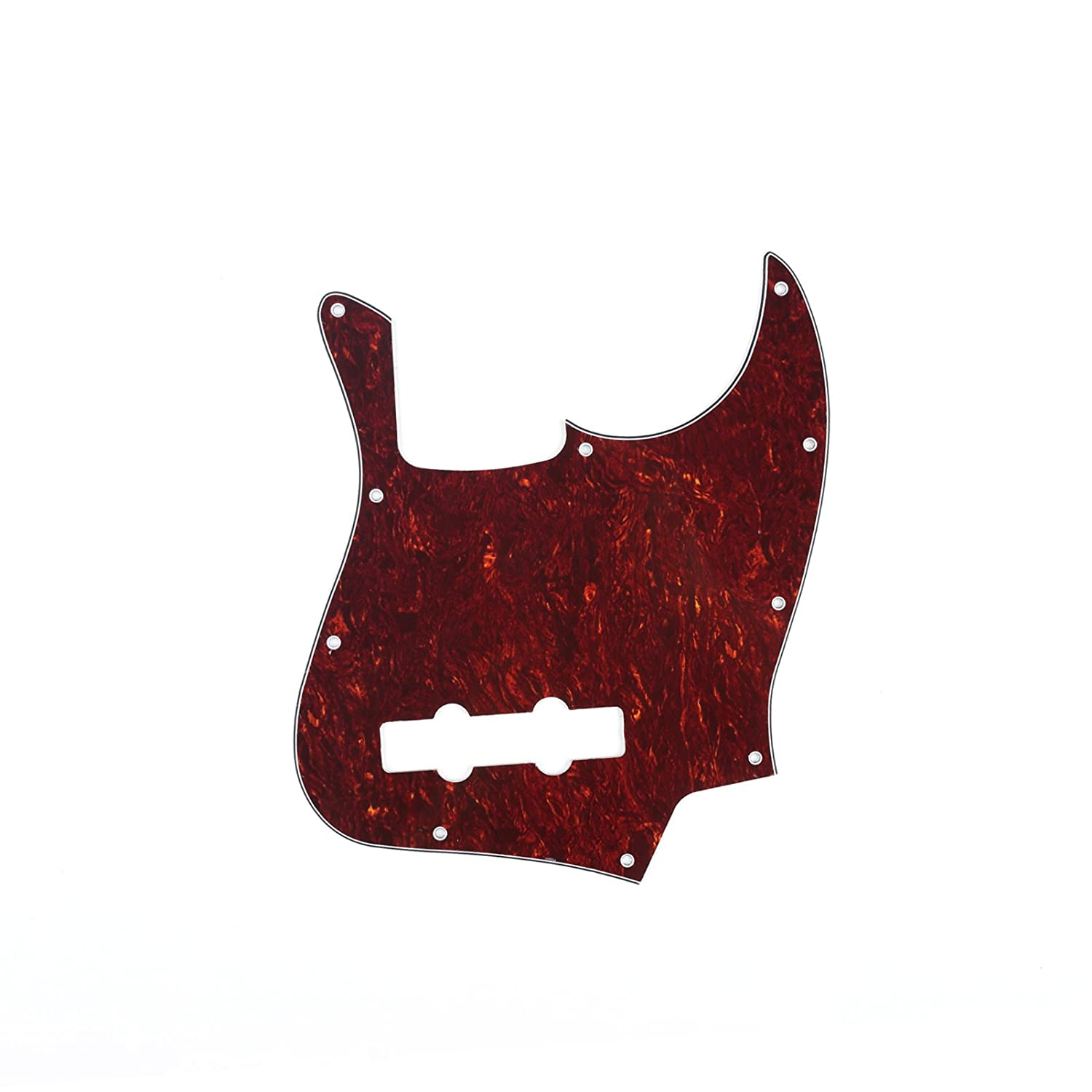 Musiclily 10 Hole J Bass Pickguard for Fender American//Mexican Made Standard Jazz Bass 1Ply White