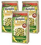 (3 Pack) K9 Granola Factory Banana Chips Dog Treats, 12 Ounces each