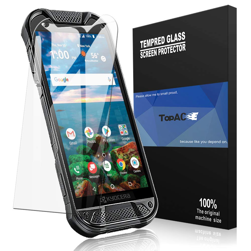 [2 Pack] TopACE for Kyocera DuraForce PRO 2 Screen Protector, Kyocera  DuraForce PRO 2 Tempered Glass 9H Hardness [Case  Friendly][Anti-Scratch][Bubble