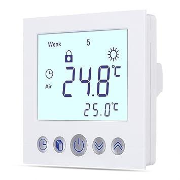 WELQUIC Raumthermostat Touchscreen Temperaturregler Plug-In ...