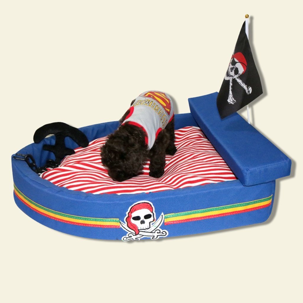 70cm BEDS Dogs Furniture Pirate pet washable Four seasons bluee ship velvet threedimensional nest pet cats and dogs (Size   70cm)