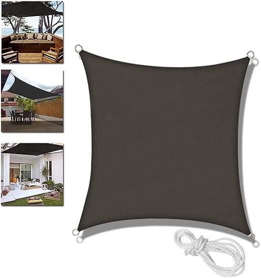 UISEBRT Toldo Vela de Sombra Rectangular 3x 3 m con protección UV para Jardín, Camping, Terraza, Balcón, Antracita (3x 3 m): Amazon.es: Jardín