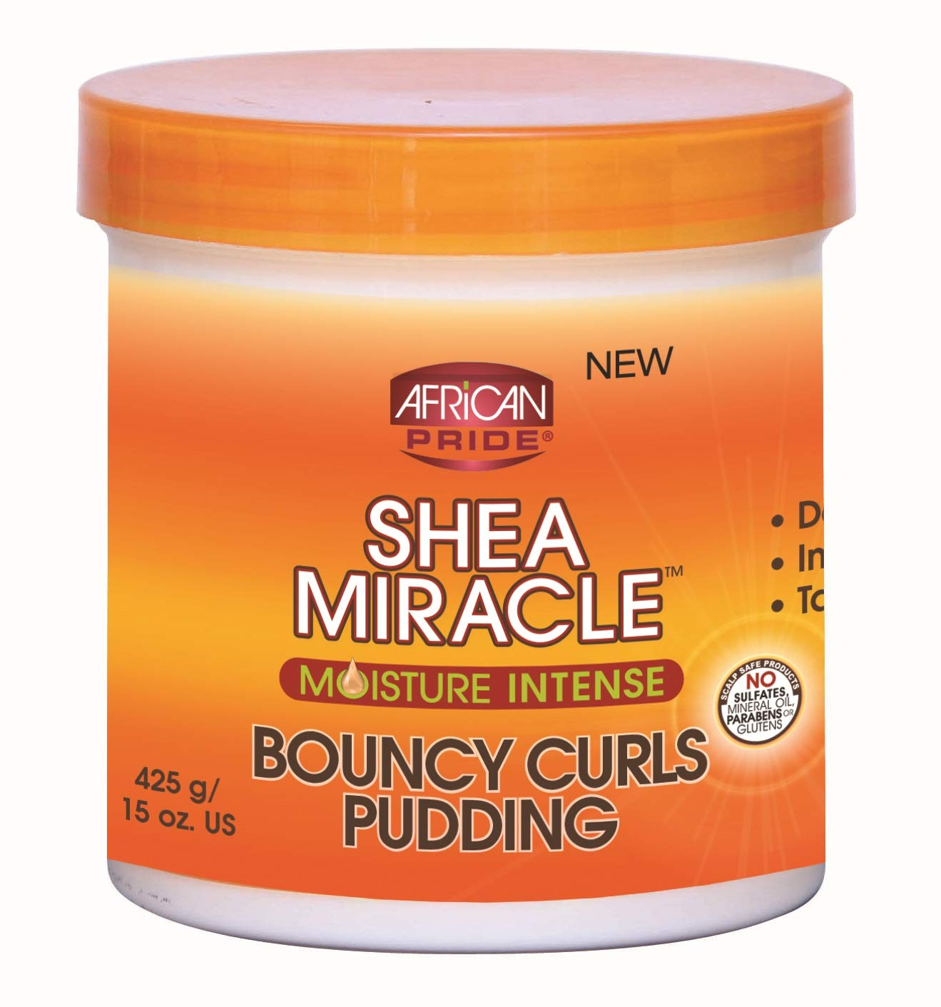 African Pride Shea Butter Miracle Bouncy Curls Pudding 15 Ounce Jar (443ml) (2 Pack)