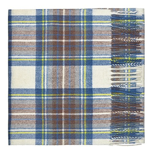(Oxfords Cashmere Pure Lambswool Luxury Tartan Scarf, MB Stewart-One)