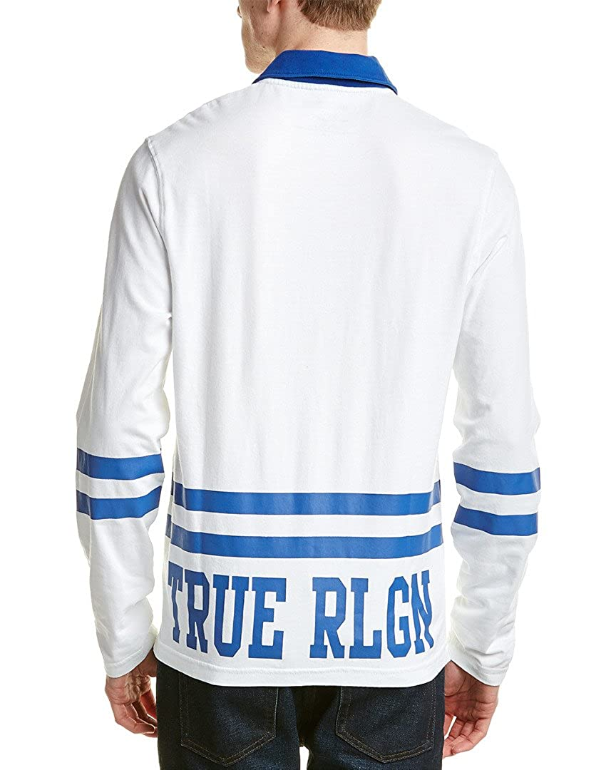 81b1a022b29 Amazon.com: True Religion Men's Team RLGN 2 Long Sleeve Rugby Polo Shirt:  Clothing