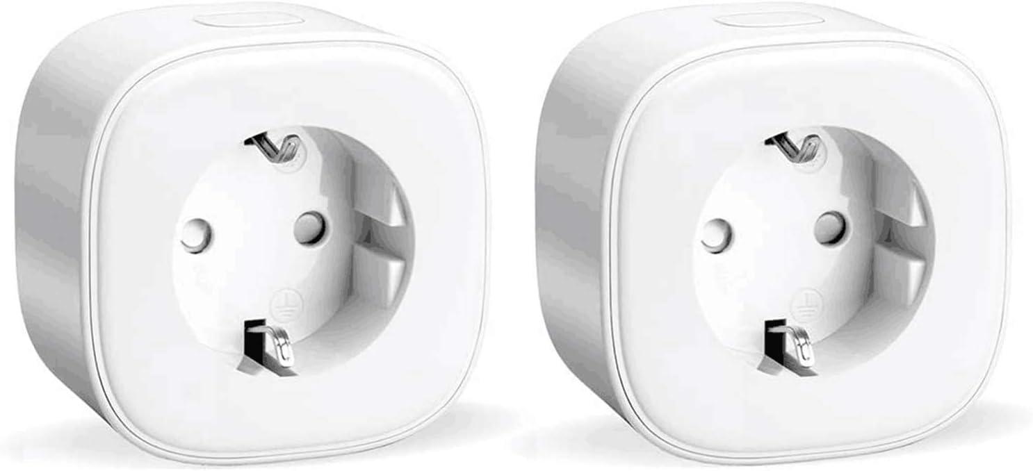 Enchufe inteligente con Wi-Fi, 16A 3680W, Compatible con Alexa y Google Assistant, con Aplicación de Control Remoto para iOS y Android, Wi-Fi Smart Plug, Paquete de 2.