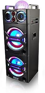 Pyle PSUFM1043BT Bluetooth PA Loudspeaker Karaoke Entertainment System, Wireless Mic