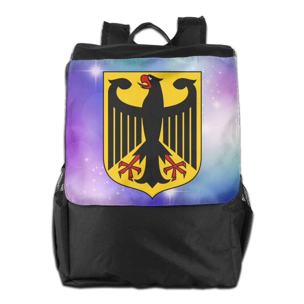 Nollm Coat Of Arms Of Germany Waterproof Backpack Travel Shoulder Bag For Men Women And Teens