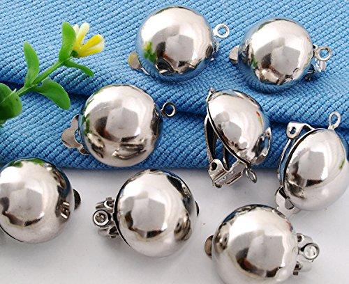 Skyllc/® 10X Ohrschmuck Ohrclips Clips aus Metall wei/ß 24x17mm TREND