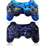 CHENGDAO PS3 Controller Wireless 2 Pack Dual Shock Upgraded Gamepad for Sony Playstation 3 with Charging Cord (PS3…