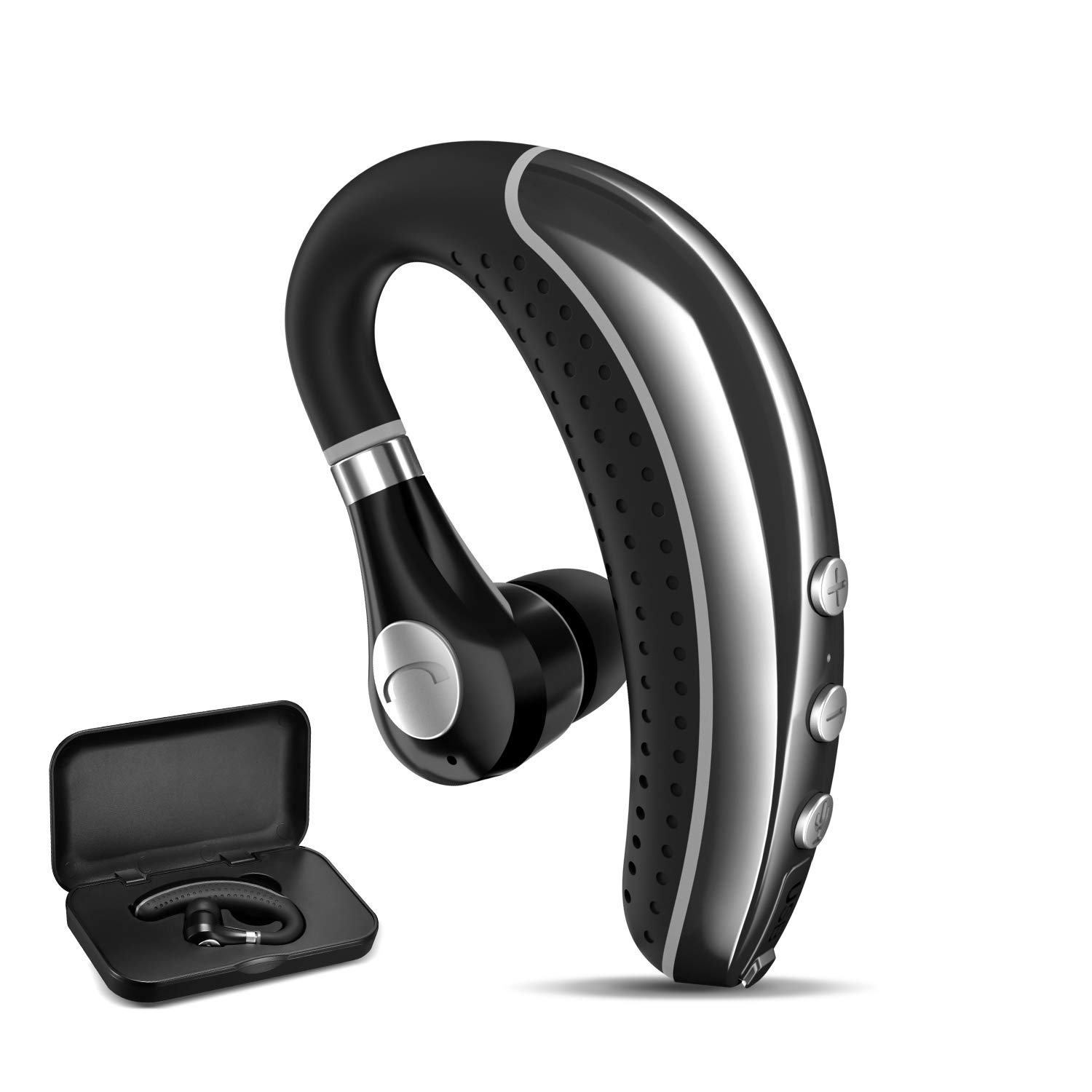 COMEXION Bluetooth Headset, Wireless Business Bluetooth Earpiece with Mic, Compatible Cell Phones for Driving/Meeting/Listening by COMEXION