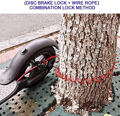 Blocco freno a disco per scooter elettrico antifurto in acciaio con serratura a disco per ruota freno a disco per Xiaomi M365/PRO Scooter elettrico accessori ruote armadietto con corda promemoria 7 spesavip