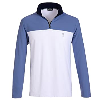 45fca243c71a Golfino Men Extra Dry Pique Sweater with White Stripes, Weiß, XXXL ...