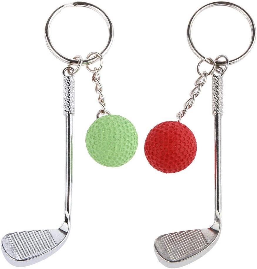 Tennis Ball Alloy Key Ring Chain Novelty Fashion Gift Woman Decoration Green