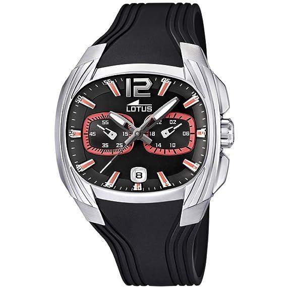 Lotus 15756/6 - Reloj analógico de cuarzo para hombre con correa de plástico, color negro: Lotus: Amazon.es: Relojes