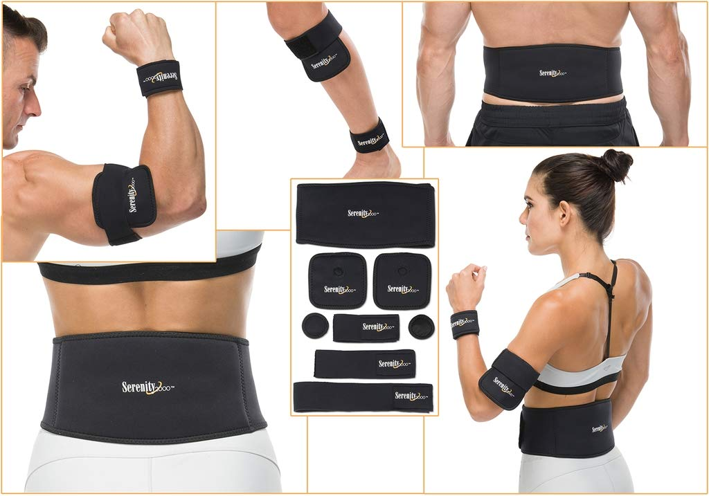 Full Body Magnetic Therapy Set - 8 Piece Magnet Treatment System (Small/Medium(waist up to 36