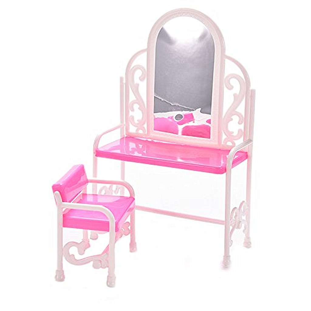 Landor Dressing Table And Chair Set For Barbies Dolls Bedroom Furniture Accessories Set For Barbie Dolls Kids Toy House Toys Games Cjp Org In