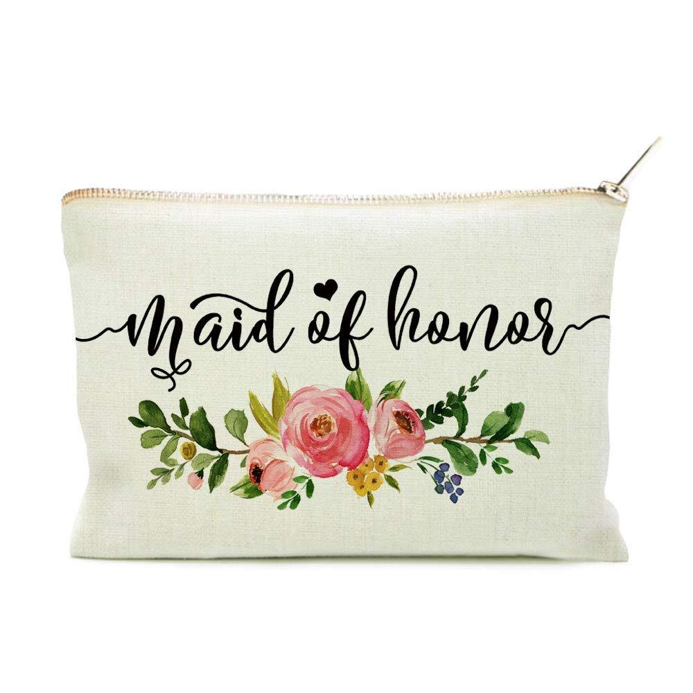 Maid of Honor Bag, Maid of Honor, Maid Giftof Honor Proposal, Maid of Honor Makeup Bag, Linen Makeup Bag, Makeup Bag, Makeup Pouch