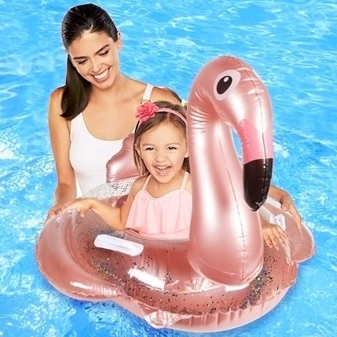 JF Flamingo Inflable Flotador para Piscina para niños Asiento con ...