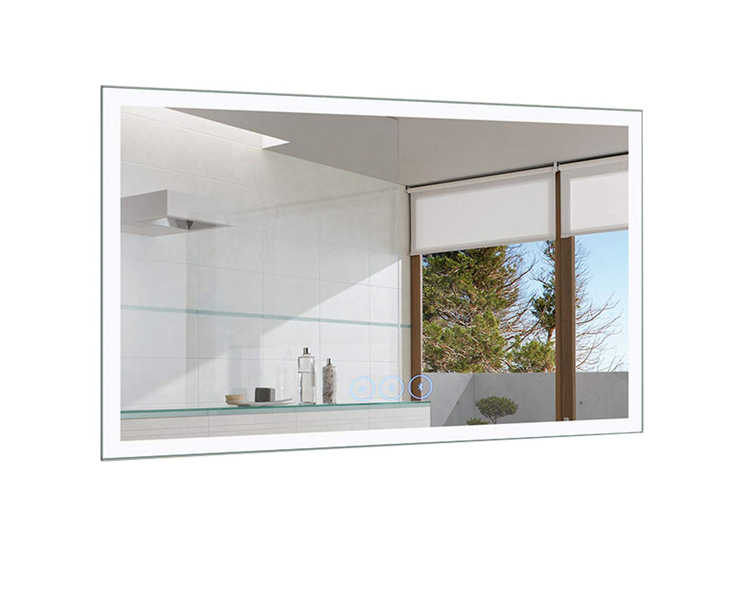 D-HYH 55 x 36 in Horizontal Dimmable LED Bathroom Mirror with Anti-Fog and Bluetooth Function (DK-D-N031-T) by D-HYH
