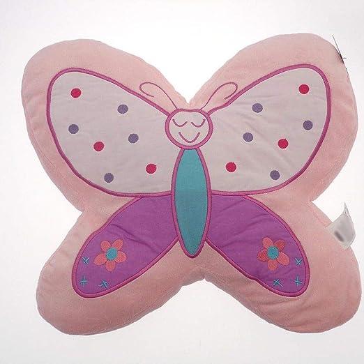 Color rosa con forma de mariposa (relleno) cojín y funda ...