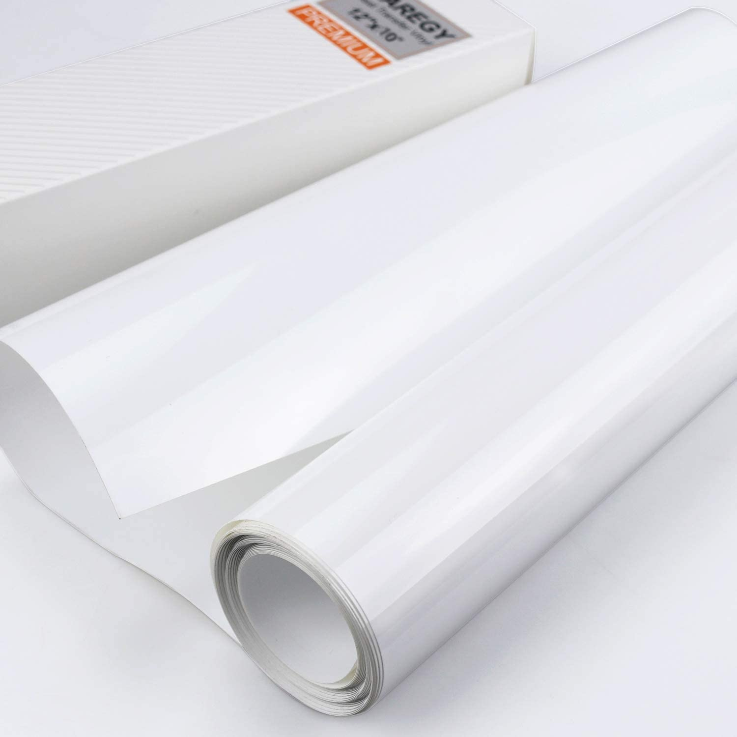 White 1 Roll Heat Transfer Vinyl Outee 12 Inch by 10 Ft Iron On HTV for T-Shirts