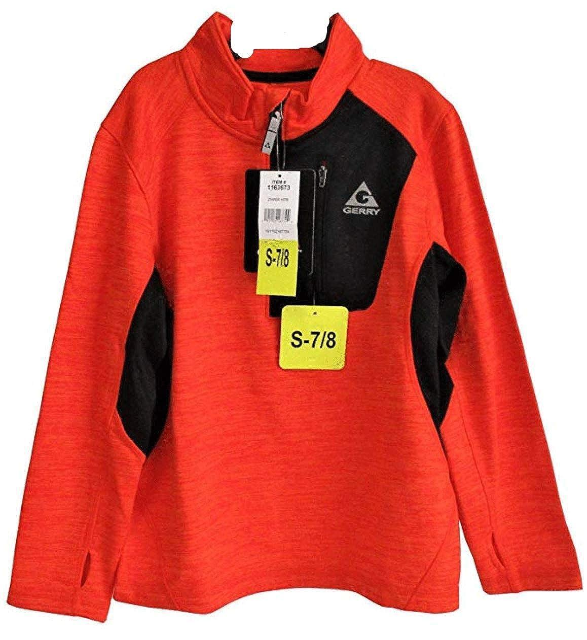 Gerry Kids Youth Boys Quarter Zip Lightweight Athletic Fleece Lined Sweatshirt Jacket Small 7//8