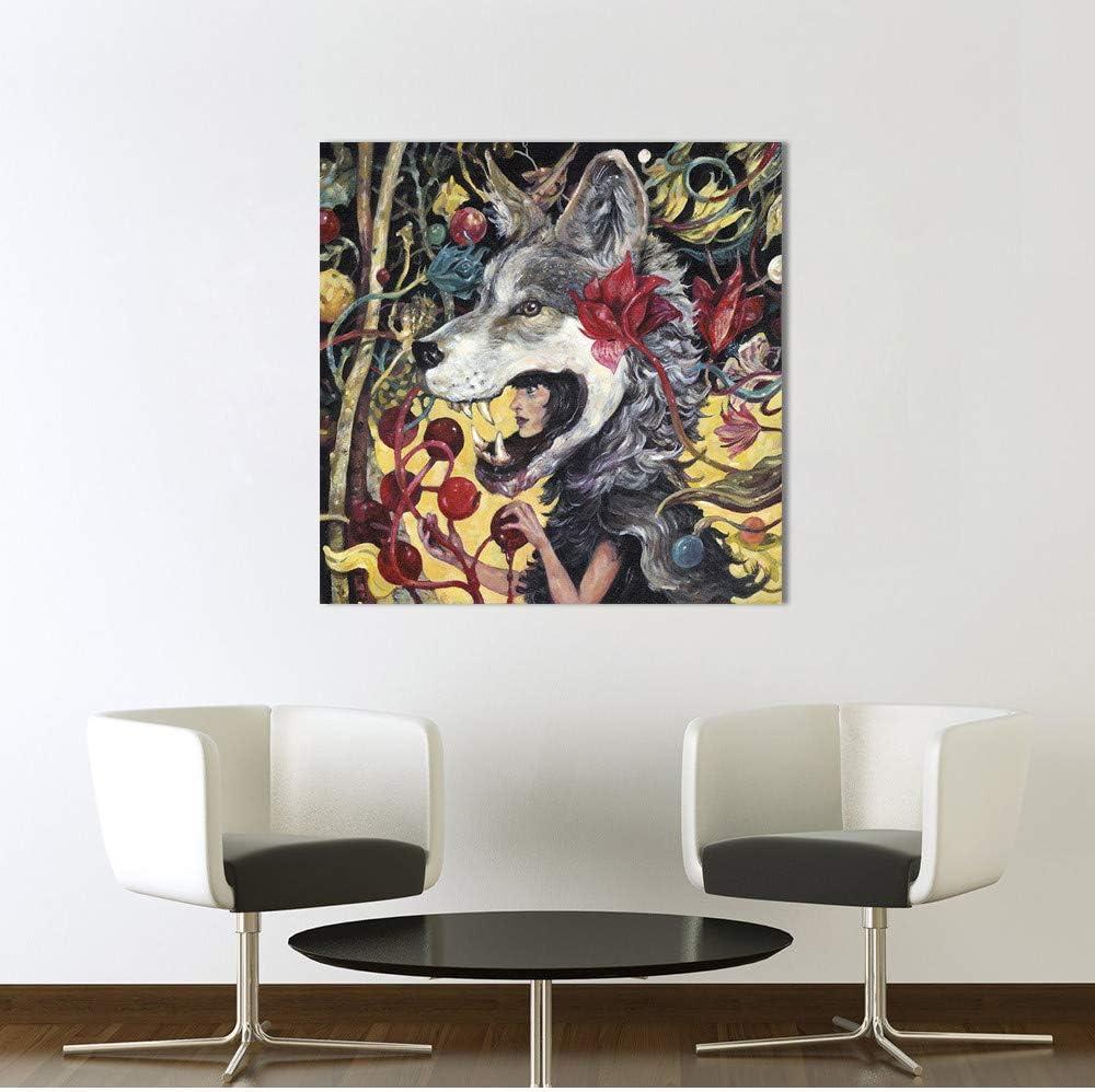 Hombre lobo creativo cuentos de hadas arte de la pared pintura de ...