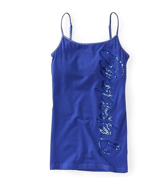 9b0e076052 Amazon.com  Aeropostale Women s Vertical Sequin Cami  Clothing